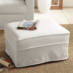 White slipcover for ottoman jute rug idea for living room