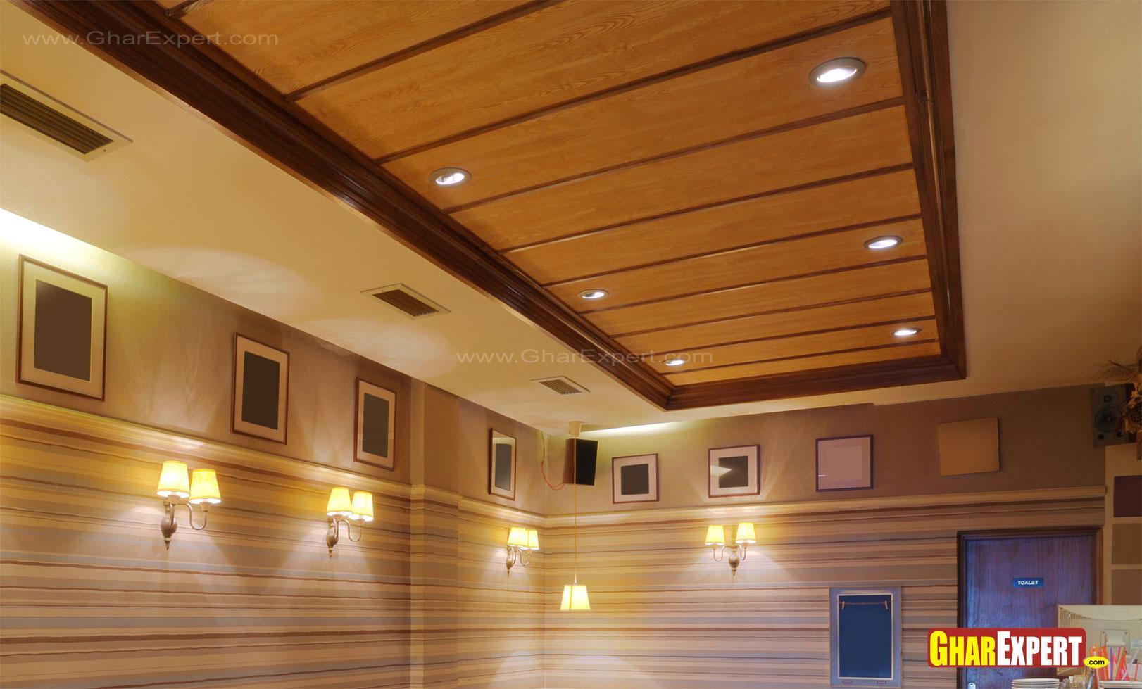 Wood Ceiling Planks Design Homesfeed