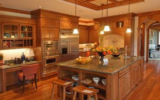 Wooden And Calm Color Of Kitchen Cabinets Ideas