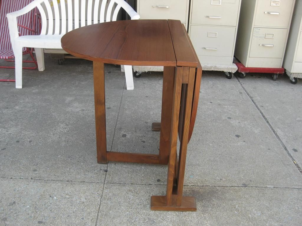 Wooden Folding Table ~ Fold down dining table design homesfeed