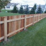 Wooden Long Fence Backyard Ideas