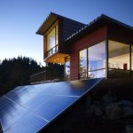 Wooden Modern Home With Solar Panels