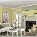 Yellow Wall Interior Paint Color 2014 With White Furniture And Fireplace