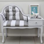 adorable chaise queen anne couch design with white and gray pattern and tuft texture and table storage and turquoise picture on tile flooring