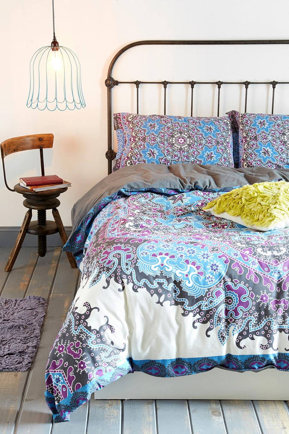 Bed Covers. Add the finishing touch to your room with bed covers. From floral designs to more modern looking geometric ones, discover the perfect bedding to complement your boudoir. A Bright Idea.