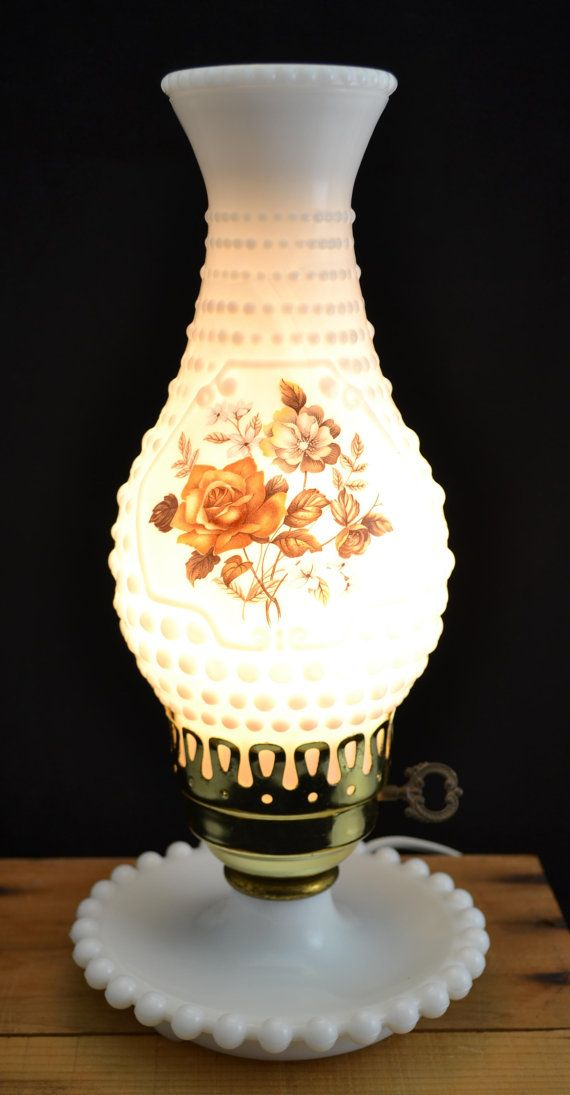 Artistic And Nice Vintage Milk Glass Hobnail Electric