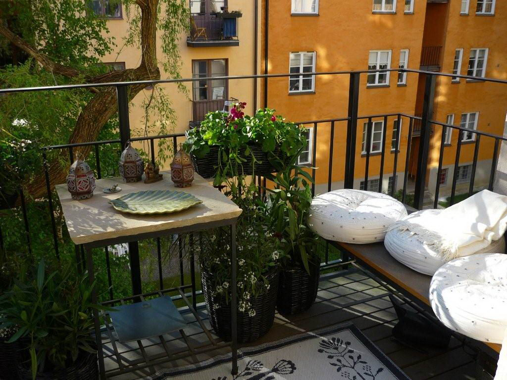 narrow balcony furniture. c attractive apartment balcony furniture with wooden bench and square table  plus awesome plants modern white