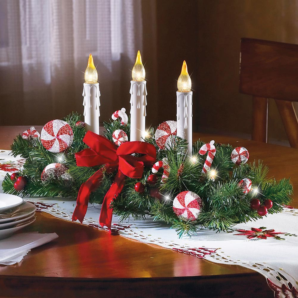 Acrylic candle holder best decoration for christmas