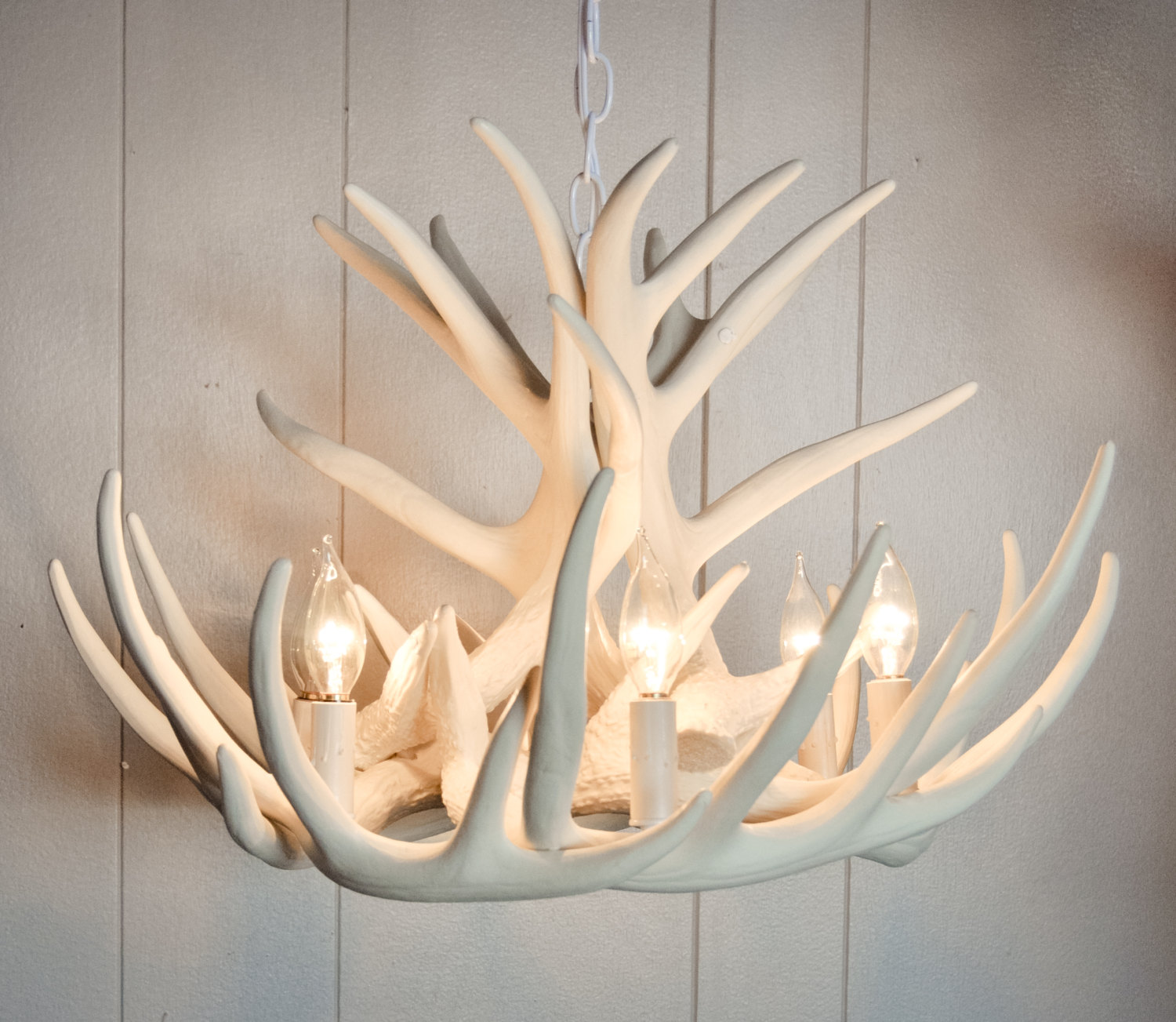 White antler chandelier displaying unique and rustic details in your awesome home ideas with white antler chandelier with a lot of bulbs and chains plus canopy aloadofball Gallery