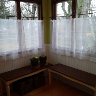 Beautiful Linen Caf 233 Curtains For Windows Homesfeed