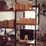 beautiful-wooden-shelves-and-stolmen-poles-and-mid-century-unit-space-spray-painted-in-black-used-as-wall-divider-and-desk-or-workstation