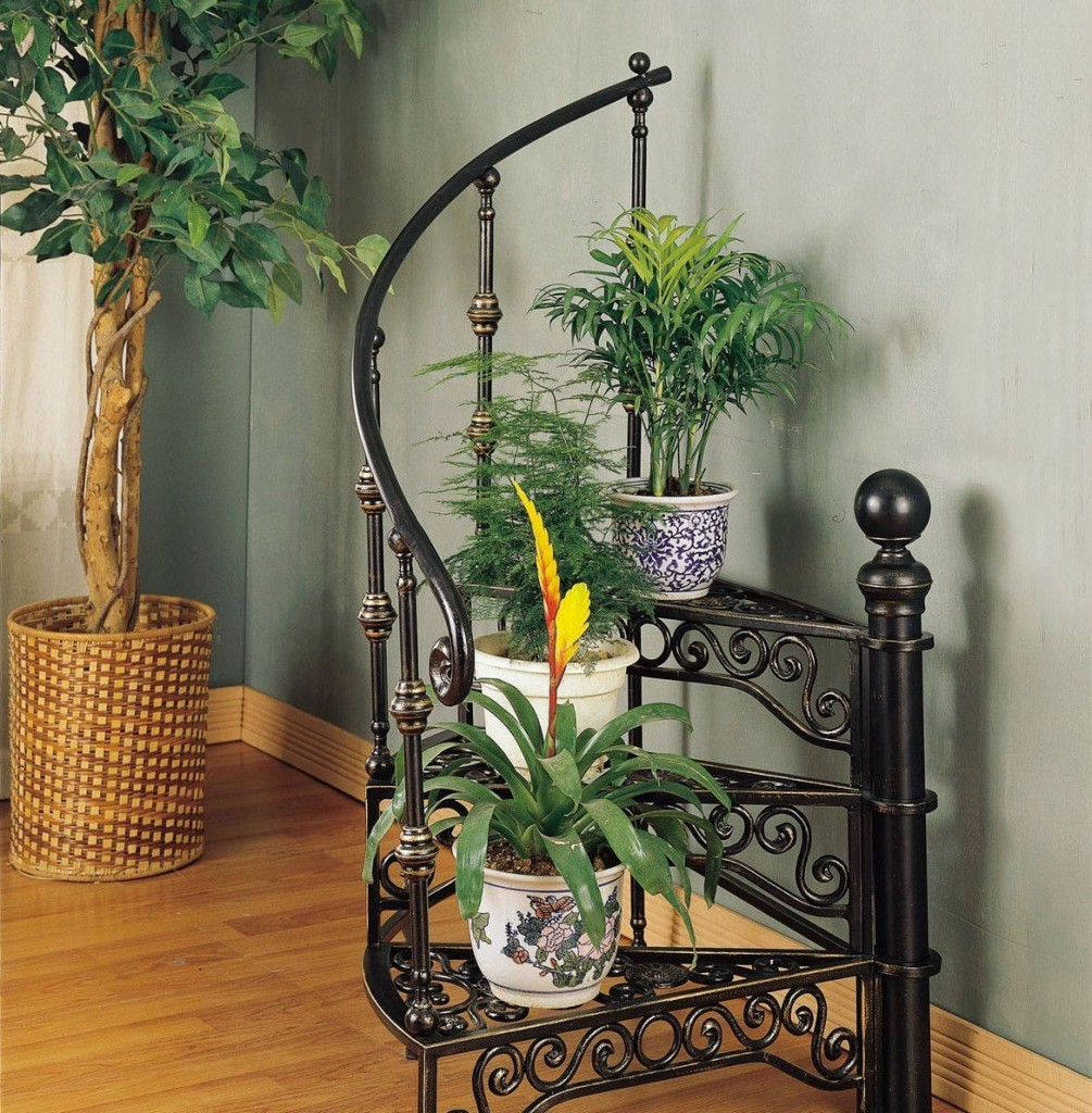 Flower Stand Designs : Best wrought iron flower stand unique design for