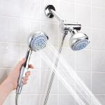 brand new types of shower heads with double head for accesible bathroom ideas