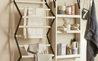 charming-and-multifunction-traditional-style-of-drying-racks-sold-by-pottery-barn-with-peg-rack-for-utilitarian-space-and-narrow-design-in-smaller-space