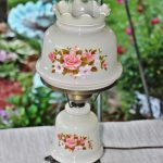 charming-victorian-flair-electric-hurricane-lamp-with-pink-roses-and-pink-trim-also-with-clear-chimney-top-and-base-light-and-vintage-item-from-1960s