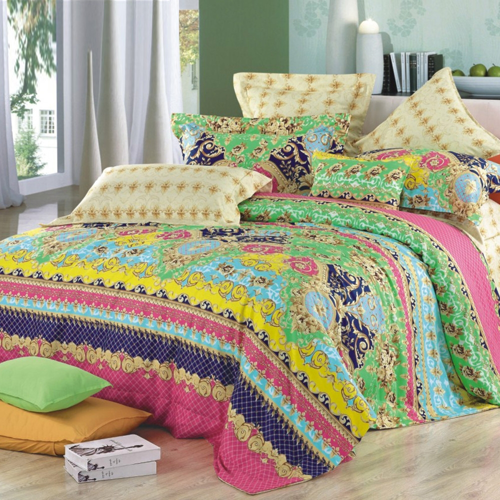 cheerful gray bedding. cheerful bedroom idea with adorable pillows pattern and designs wooden  floor gray painted wall Tribal Pattern Bedding to Experience Lovely Nuance inside