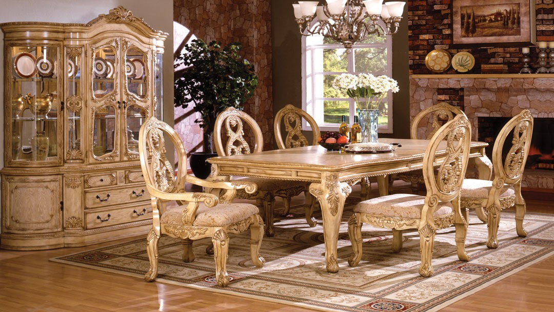 Classy And Oxford Creek Furniture With Classic Chairs And Table And Antique  Cup Board And Attractive