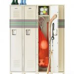 Clutter Control With Lockers To Organized Your Entryway Also A Vanguard Single Tier Lockers In Champagne Painted In Grey Also For  Placing Kid's Stuffs