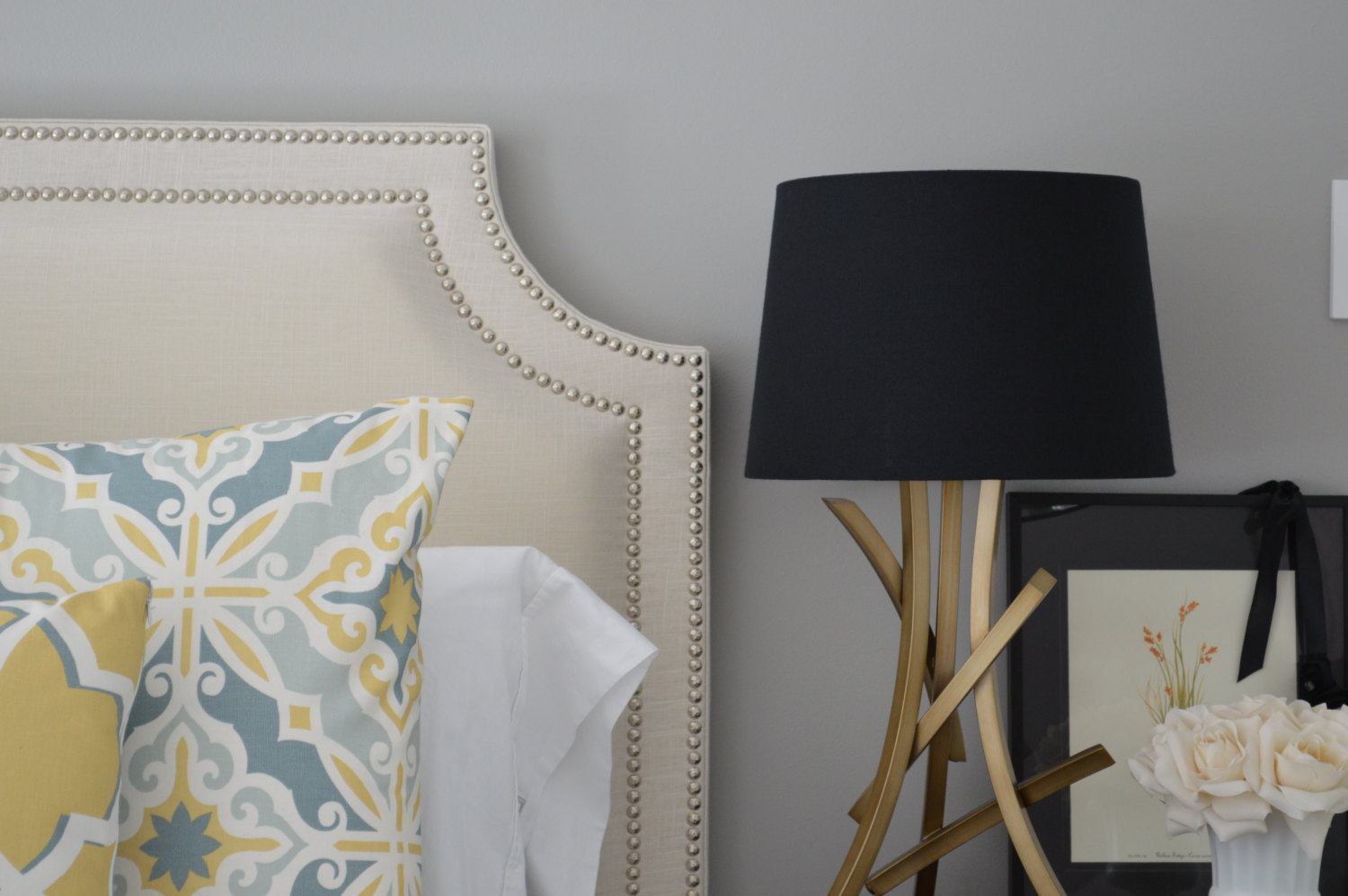 Upholstered Headboard with Nailhead Trim – A Simple Way to Adorn Your Headboard