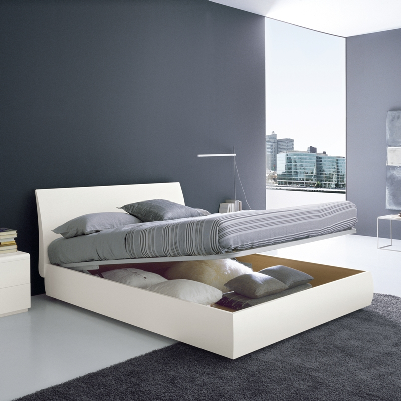 Modern king size bed frames providing a spacious room for for The best bed designs