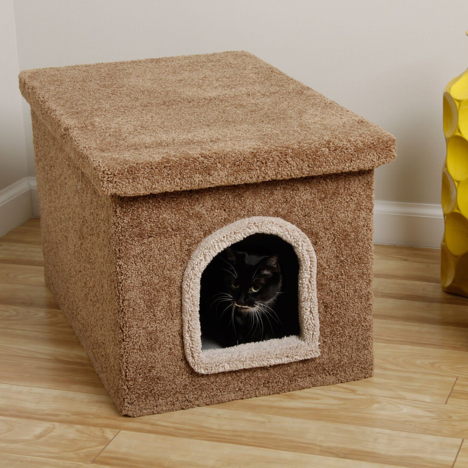 Cat House Made Of Boxes