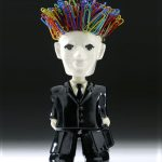 Creative Design The Yes Sir Bobble Head Stands 7inches And Attracts Paper Clips To Its Magnetic Head In Black And White Color