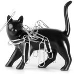 creative-design-thumbs-up-pussy-magnet-in-black-color-as-paper-clip-holder-and-attracts-staples-for-avoiding-the-clutter-from-the-desk-in-black-cat-design