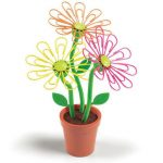Creative Paper Clip Designs The Desk Daisy With A Daisy Plant Placed In The Pot Design And Magnetic Center On Each Petal For Colorful Paper Clips