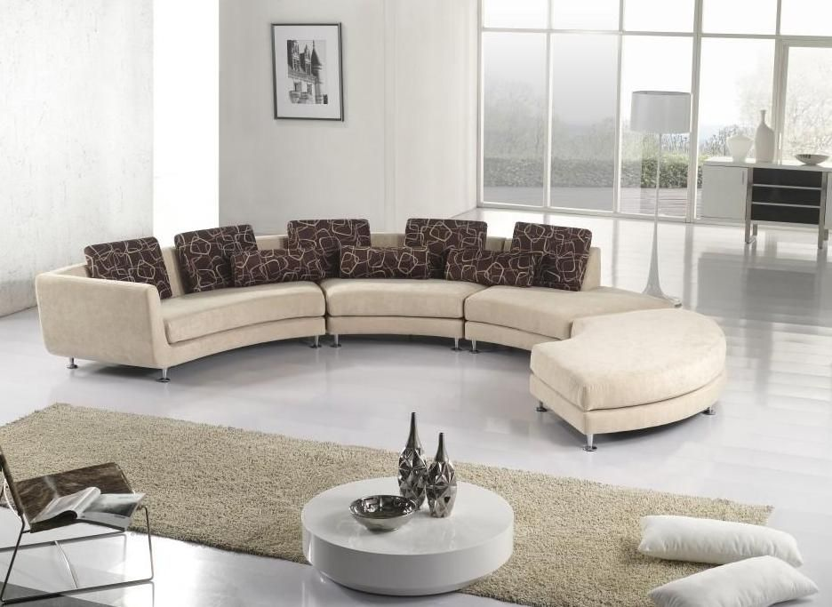 Unique sectional sofas bringing an exciting decor for for Living room ideas with beige sofas