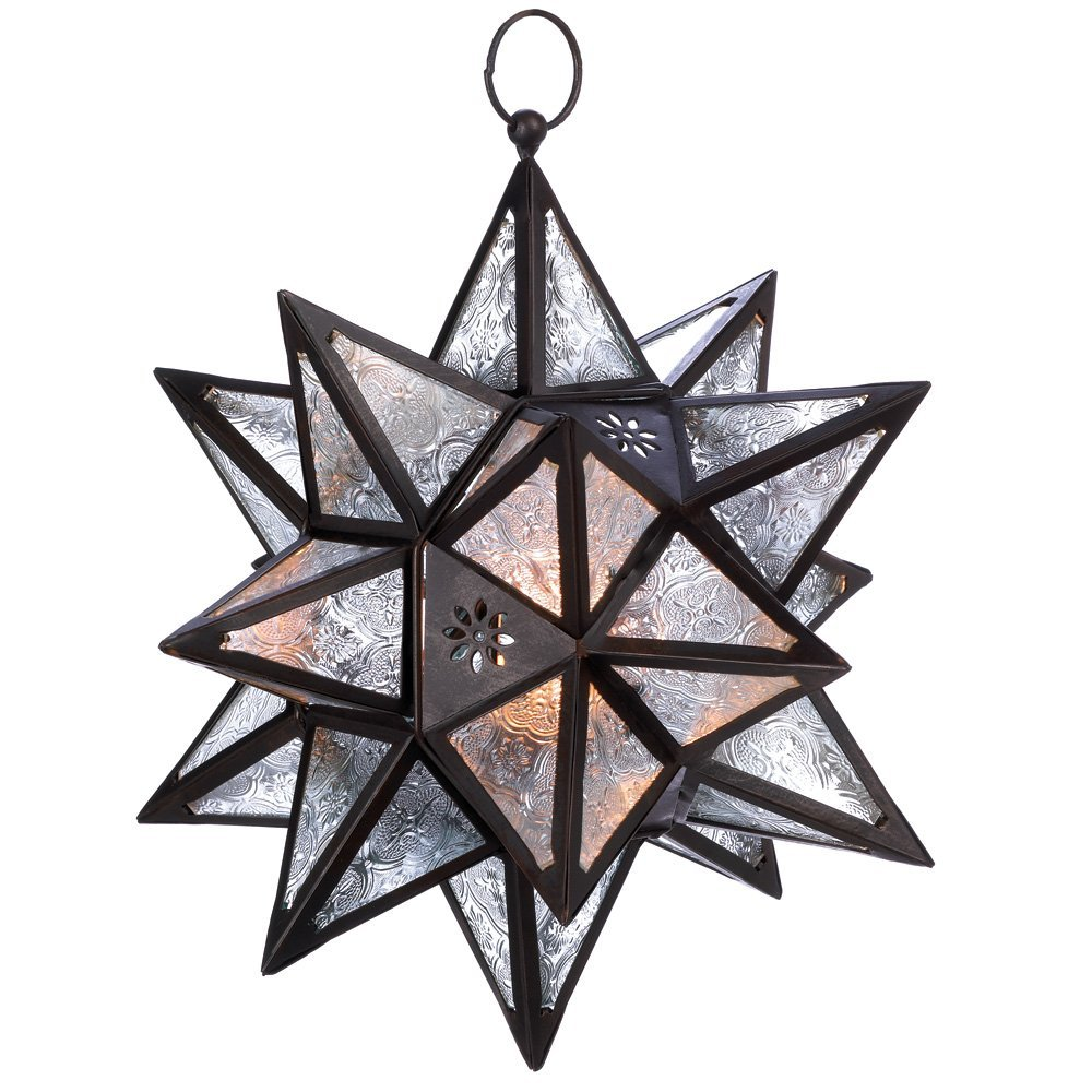 elegant moravian star pendant light fixture made of glass and bronze. Black Bedroom Furniture Sets. Home Design Ideas