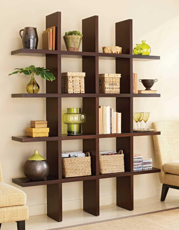 Creative simple furniture design -  Room Interior Design Elegant Wooden Creative Shelving Idea Simple Room Interior Stunning Simple House Interior