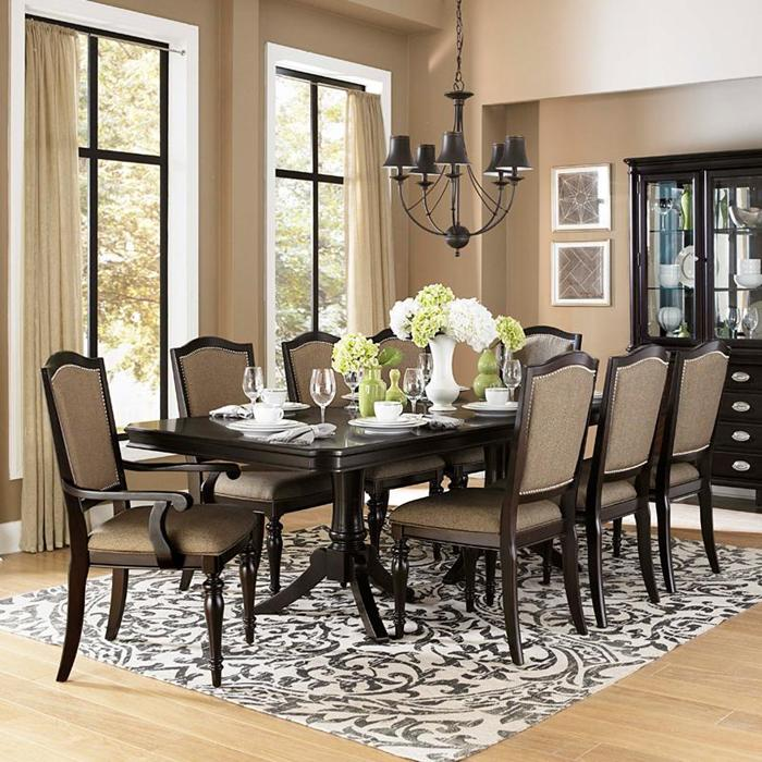 Fascinating Dining Room Ideas With Oxford Creek Furniture Consisting Of  Long Rectangular Wooden Table And Comfy