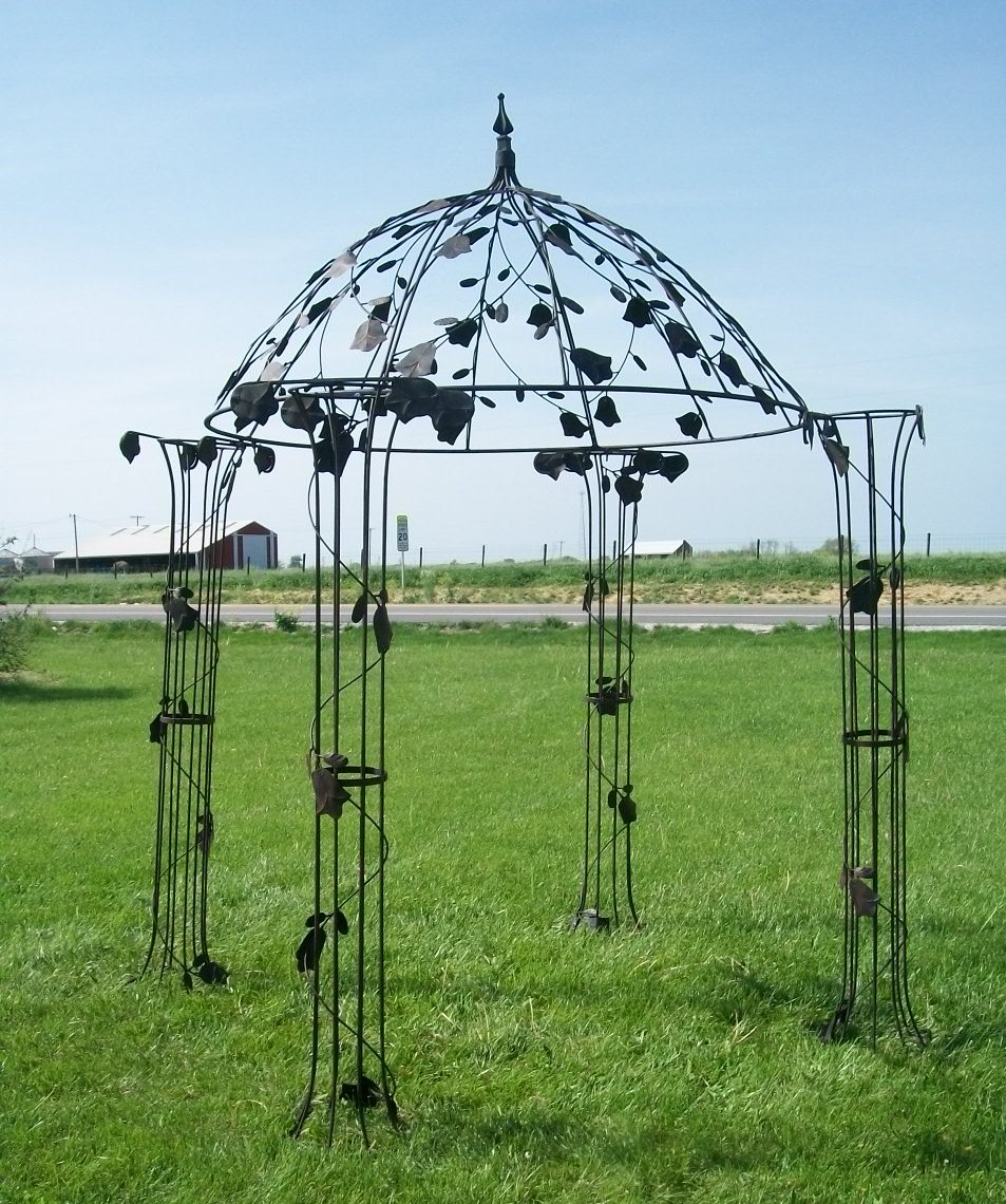 The Wrought Iron Pergola For An Exciting And Wonderful