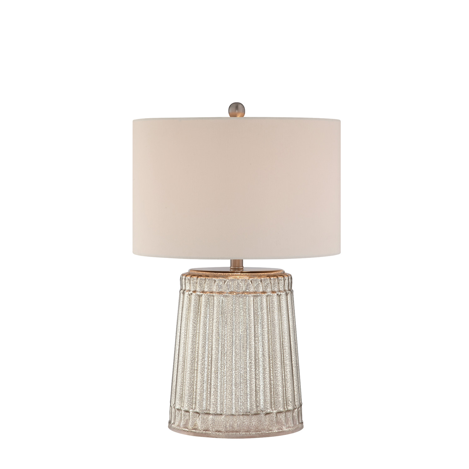 Gorgeous 3 Way Table Lamps In Attractive Design And Modern White Drum Shade