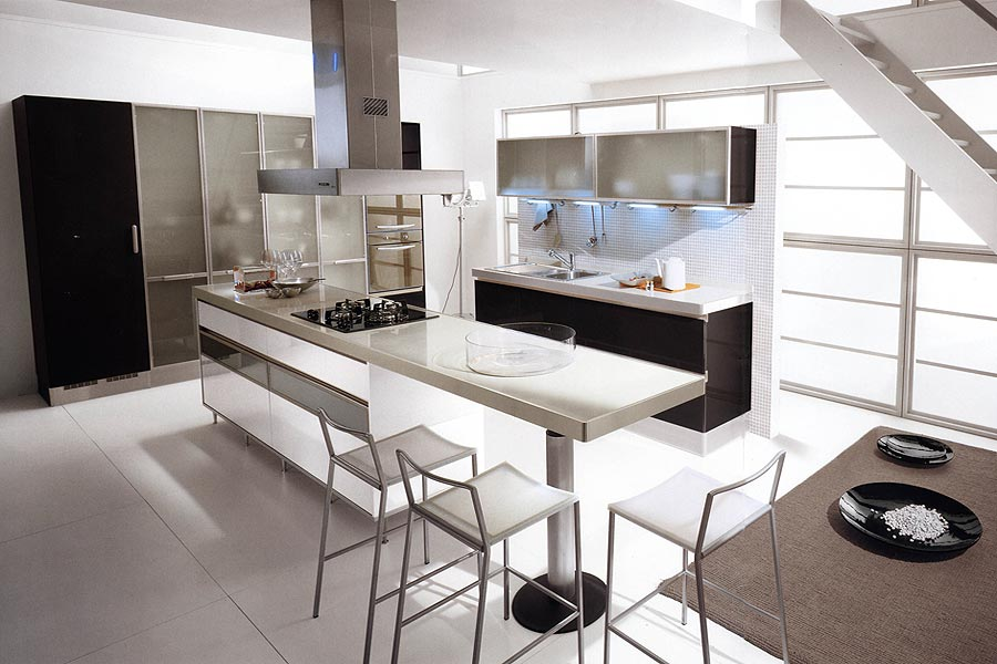 Black and White Kitchen Decor to Feed Exclusive and Modern Passion ...