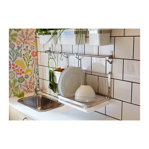 Wall-Mounted Drying Rack for the Dishes | HomesFeed