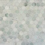 hexagonal ming green marble tile for awesome home decorating ideas