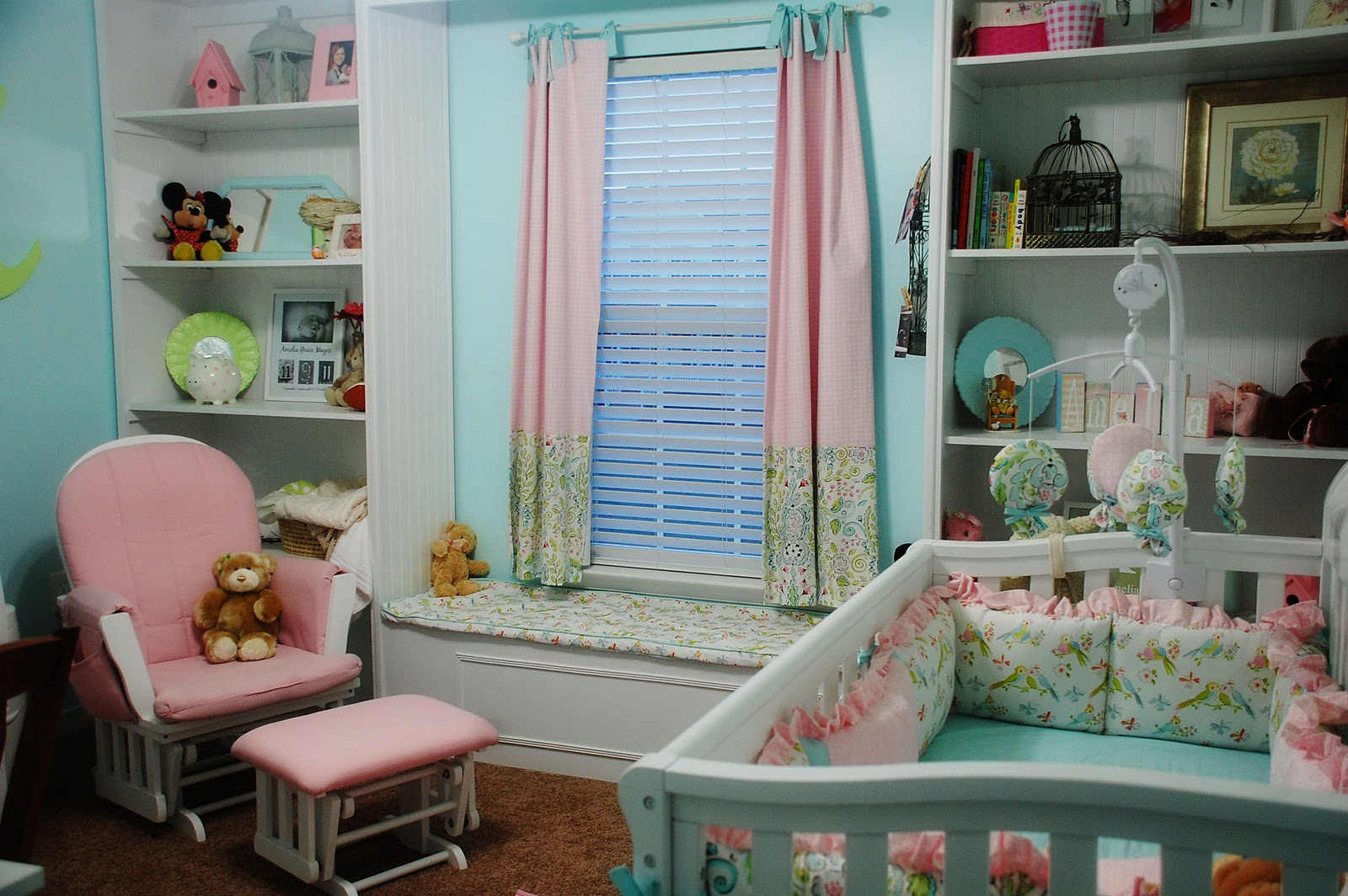 joyful pink blackout curtains nursery featuring window blind set in amazing babys room and attractive nursery