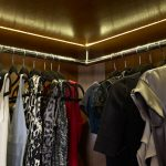 led closet lights for glamourous walk in closet with hanging rods