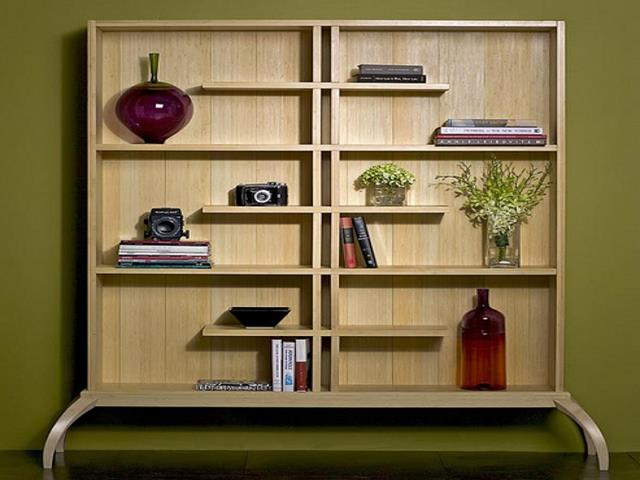 Living Room With Creative Bookcase Ideas Perfect