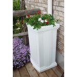 madison-rain-catcher-and-rain-barrel-available-iin-black-and-white-for-40-gallon-includes-planter-insert-3-foot-overflow-hose-4-foot-garden-hose-and-shut-off-valve