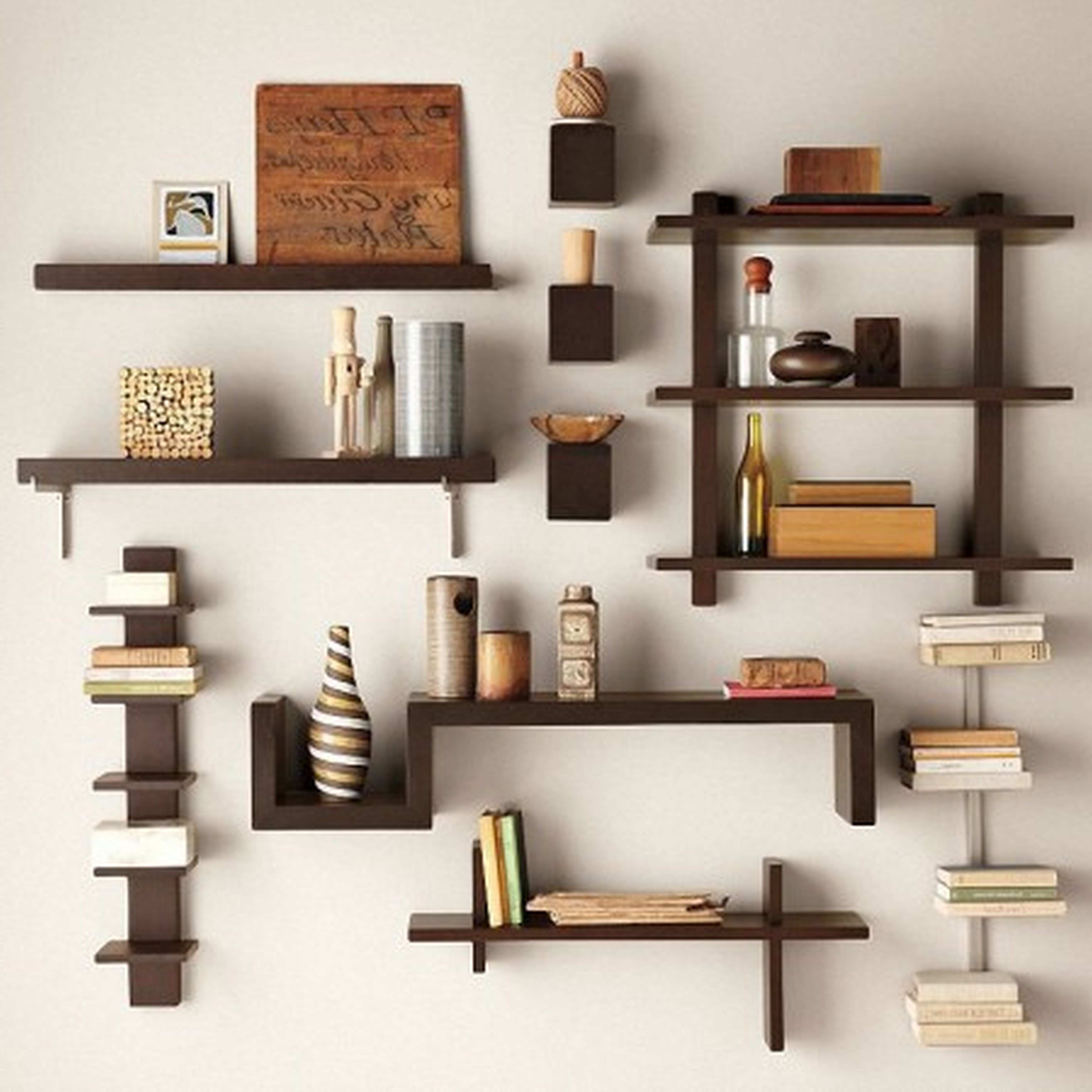 Decorate rooms with decorative shelving unit homesfeed - Bedroom wall shelves decorating ideas ...