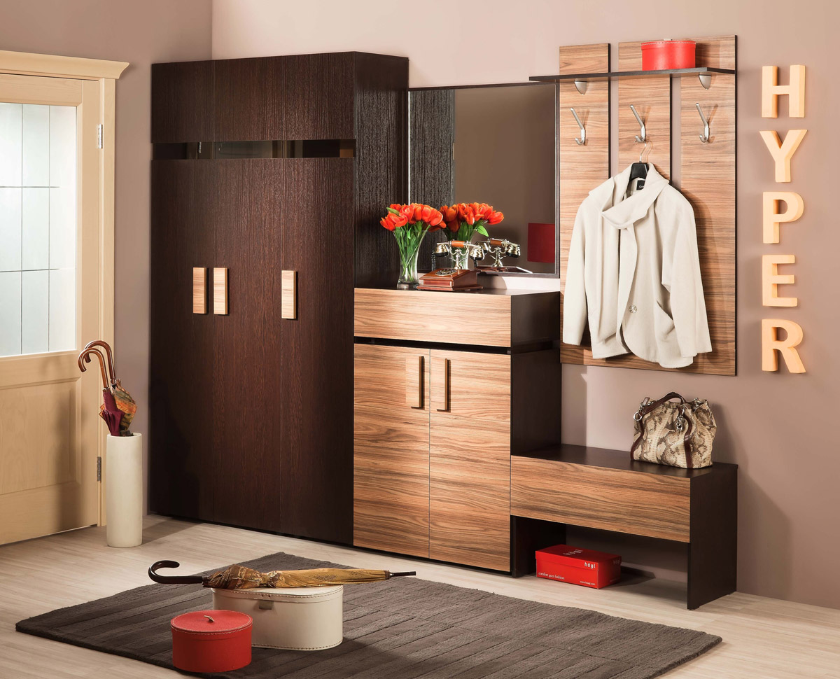 Minimalist Hall Storage Design Idea With Hooks Clothers Board And Closet Dresser Bench