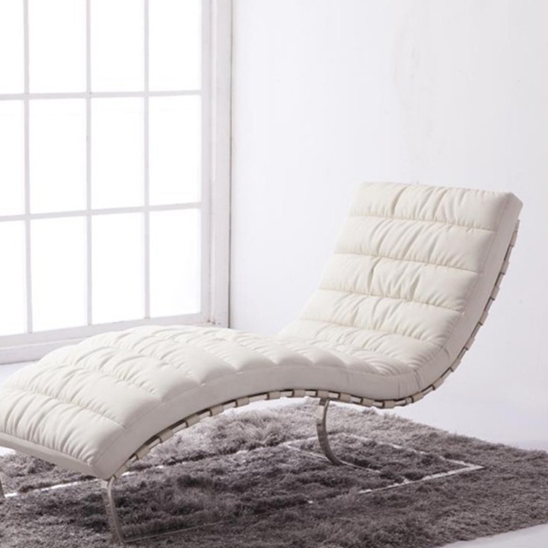 Minimalist White Lounge Chairs For Living Room And Furry Rug Plus Glass  Wall And White Painted