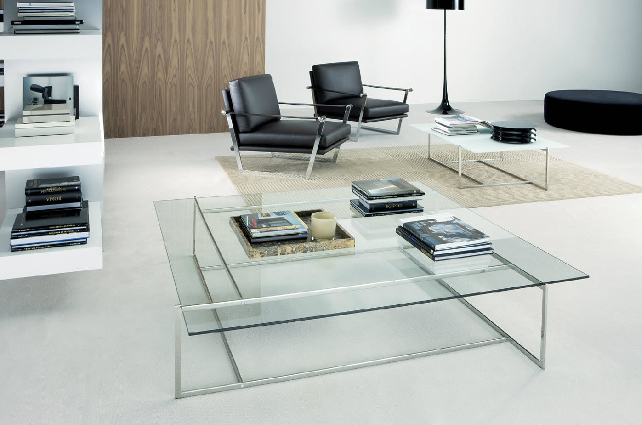Small glass coffee tables create accessible home ideas for Modern living room coffee tables