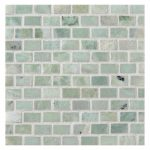 mosaic ming green marble tile in brick pattern for fascinating home ideas