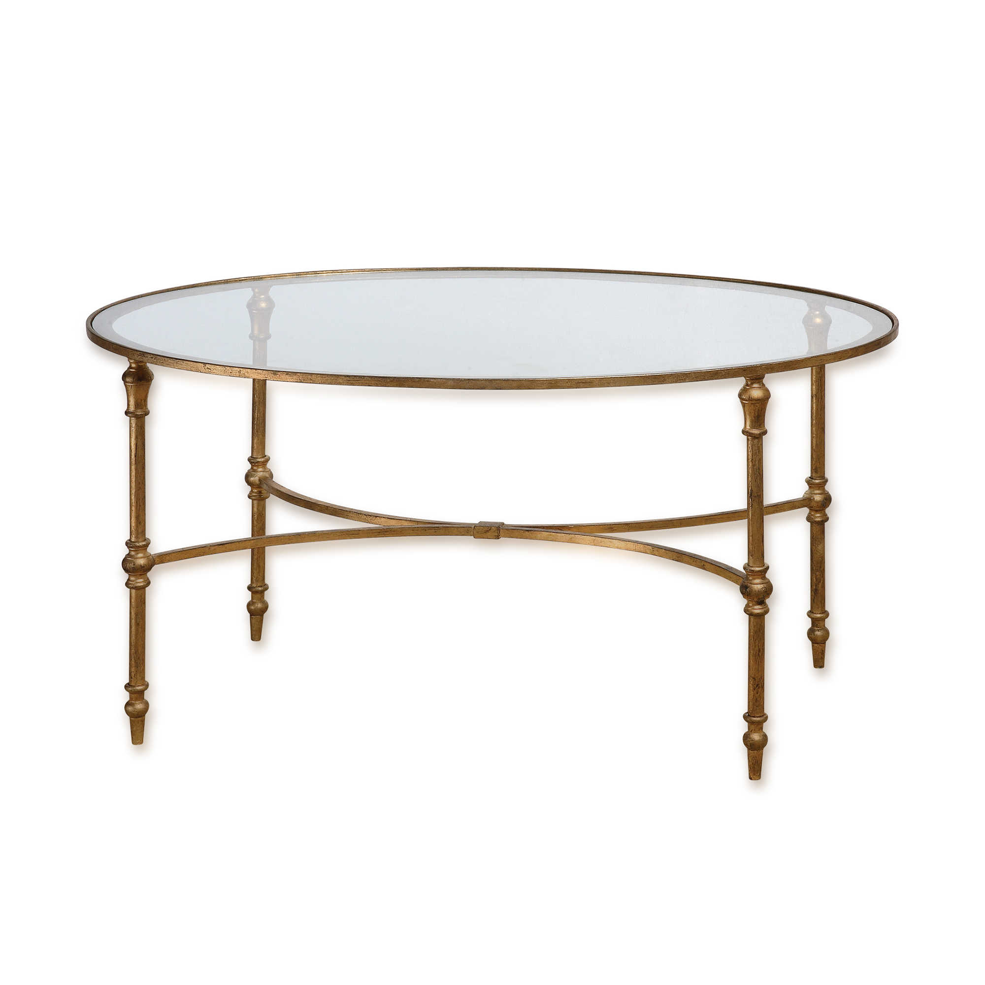 Small oval glass and metal coffee table for Wire coffee table