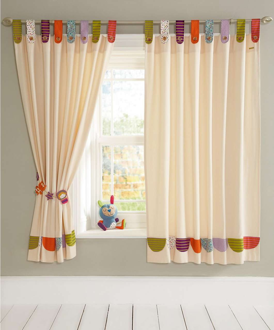 Playful With Blackout Curtains Nursery Colorful Accents On Its Top And Bottom Of The Curtain