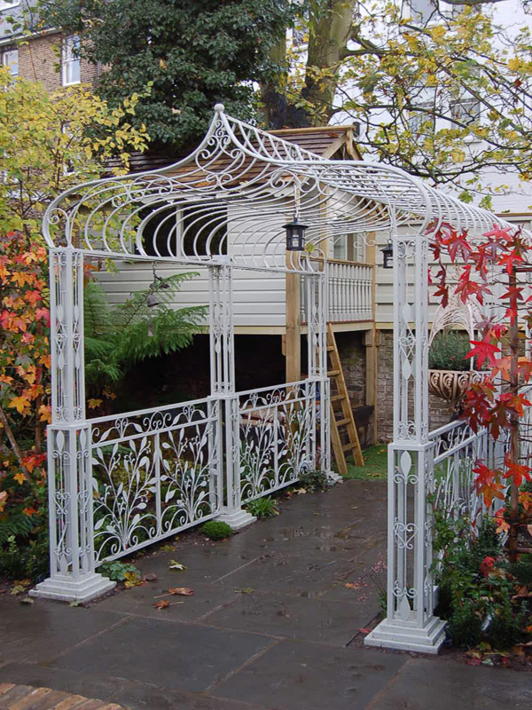 Roof Design Ideas: The Wrought Iron Pergola For An Exciting And Wonderful