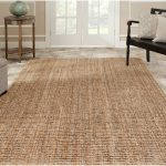 Large Rectangular Soft Sisal Rug With Wooden Furniture